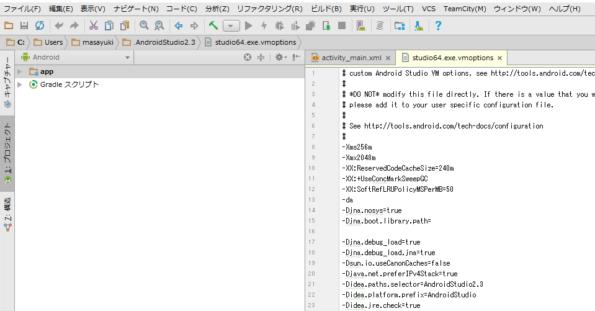 日本語化された開発画面
